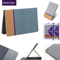 2015 online hot sale item leather case for ipad air 2 with Y-style stand option
