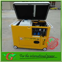 Soundproof diesel generator 5Kw 50Hz 220v electrical new type generator air cooled small power generator light duty