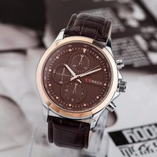 Design best sell automatic leather watch men