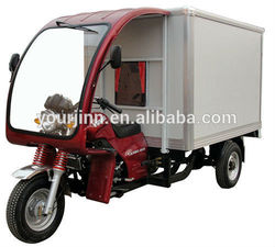 chinese delivery cart motorcycle with closed box