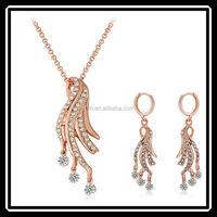 Korea Hot Sale Gold Rhinestone Jewelry Set Buy Chinese Products Online MGJ0216