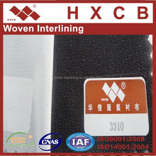 100% polyester Twill woven Fusing Interlinings for men's suit