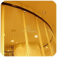 metal beads string curtain for restaurant, salon, hotel etc space partition