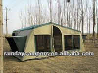 4x4 accessories mini camper trailer tent/Car folding camper trailer for self-driving travelling