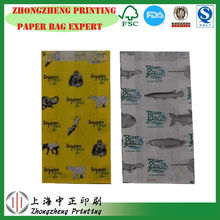 eco friendly paper snack food packaging bags/ fruit roll-ups paper bag/ snack paper bag
