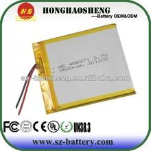 Tablet pc li-polymer battery 3.7V 3500mAh li-ion polymer battery 486971 in ShenZhen