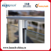 mass production round aluminum glazing handrail poles for outdoor glass railing
