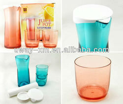 Multifunctional transparent plastic water bottle with refrigerating installation