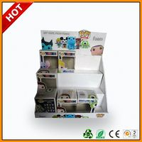 toy paper counter top display stand for fisherprice and disney ,toy paper display stand hat cardboard display