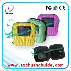 cool stype mini colourful solar energy travel bags,hard carrying case