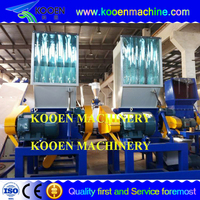 Industrial recycled plastic cleaning and crushing machine/plastic crusher