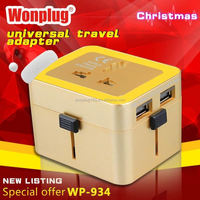 2014 top sale high quality world travel adapter gifts under 1.00