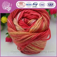 Environmentally wool/bamboo fiber hand knitting yarn