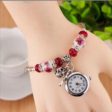 AliExpress explosion models Miao silver accessories, handmade ceramic jewelry national wind watch vintage bracelet watch quartz