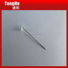 Clear Plastic Crystal Diamond Stick Pin for Hijab