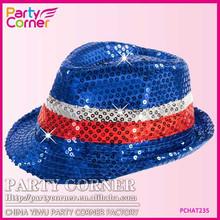 Flashing Fedora Australia Day Hat With LED Light