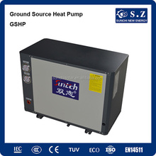 -30C cold winter heating room 20KW/380V ground brine water source geothermal heat pump combine solar energy