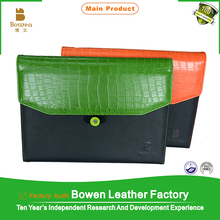 TYWEN - 0173 pu leather expandable file folders / hot selling beautiful file folders with mobile holder / leather portfolios