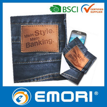 Low cost multi-functional polyester microfiber eyeglasses cleaning cloth
