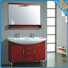 wooden top grade bathroom cabinet with basin