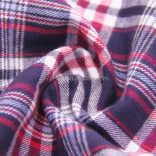 100% cotton twill plaid flannel fabric for apparel