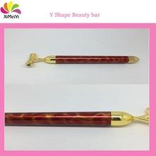 2015 Most Populor Fashion 24k golden vibrating beauty bar pen with black bladder