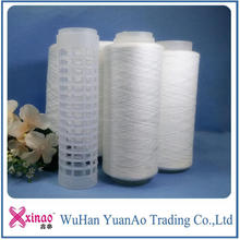 Plastic tube spun polyester yarn good sale to Bangladesh/textile suppliers from China