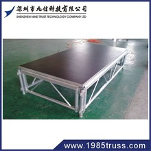 cheap Ajustable aluminium frame wooden plexiglass platform outdoor stage