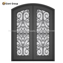 puerta de hierro forjado/ puerta de arco