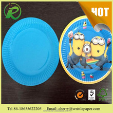 Design your own Paper Plate/popular printing design paper plate/customized printing pattern paper plate