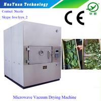 Microwave Vacuum Industrial Fruit / Leaf Dehydrator