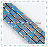 6 mm paint chinese ancient cube glass bead