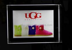 YG Acrylic photo frame led crystal light box frameless led crystal light frame