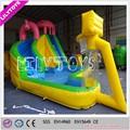 Diversão pequeno parque inflável da água, inflável water slide com jogar basquete