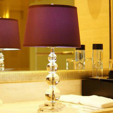 Hghomeart chambre chevet fabricants de lampes, Gros mode simple pastorale étude abat - jour de violet lampe décorative