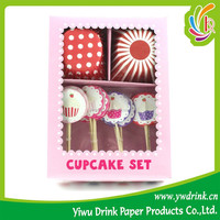 Silicone 40g Greasproof Paper Cupcake Baking For Party Supply