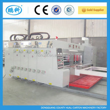 High speed flexo ink 2/3/4 color printer slotter die cutter machine for carton box making