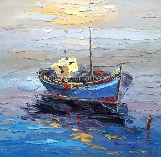 Boat Knife Boat on The Sea Knife Oil