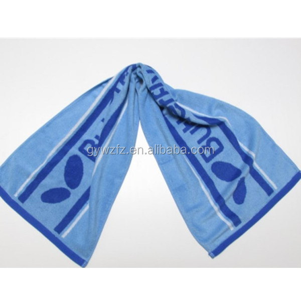 Athletic Sweat Towels: Athletic Gym Sweat Absorbent Logo Jacquard Sports Towel
