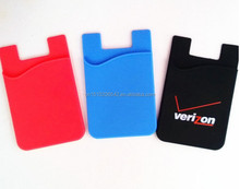 Reusable credit card case holder silicon smart phone card wallet