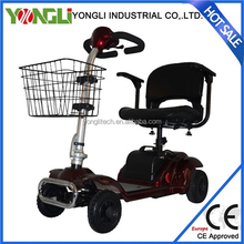 2015 new single seat mobility 4 wheel scooter with roof