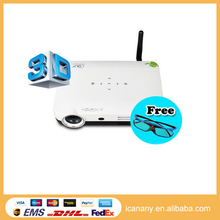 Hot selling projector big screen pico projector 1080P multimedia 3D art digital wifi projector Concox QShot3