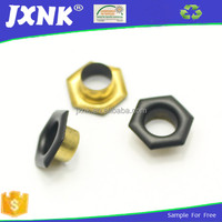fashionable made of brass pentagon shape garment eyelets