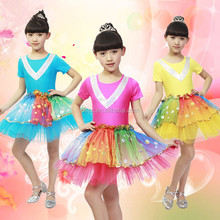 Tutu Dress Girl Latin Dance Costumes For Kids Competition HS-L102