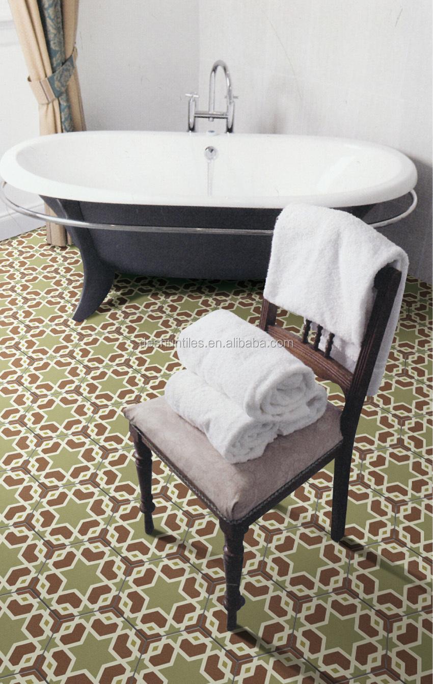 Zeshoek porseleinen tegels voor vloer en wand 3d slaapkamer tegels ...