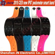 2015 new CES factory CE for android Apple IOS phone IP67 waterproof sleep monitor bluetooth pedometer 6 color smart band