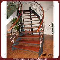 Indoor oak veneer stair tread
