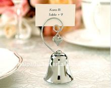 Silver Bell Placecard Holder for wedding favors