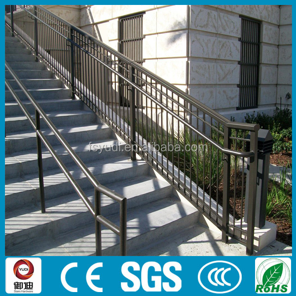 outdoor prefab spary painting metal stair railing design