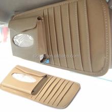 New Sun Visor 2-in-1 Paper Tissue Box CD DVD Holder Bag Pocket Car Accessories